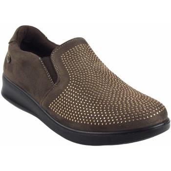 Sapatos Mulher Mocassins Amarpies 18839 AST Marrón