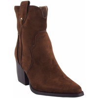 Sapatos Mulher Botins D'angela Despojo de senhora D'ANGELA18018 couro dsy Castanho