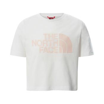 Textil Rapariga T-Shirt mangas curtas The North Face EASY CROPPED TEE Branco