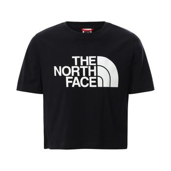 Textil Rapariga T-Shirt mangas curtas The North Face EASY CROPPED TEE Preto
