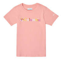 Textil Rapariga T-Shirt mangas curtas Columbia SWEET PINES GRAPHIC Rosa