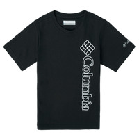 Textil Rapaz T-Shirt mangas curtas Columbia HAPPY HILLS GRAPHIC Preto