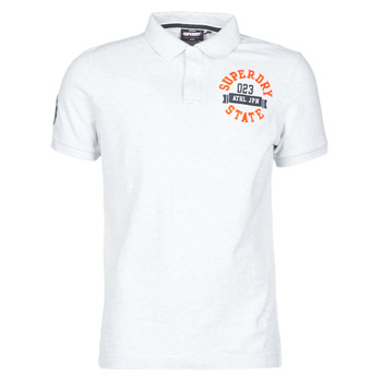 Textil Homem T-Shirt mangas curtas Superdry CLASSIC SUPERSTATE S/S POLO Cinza