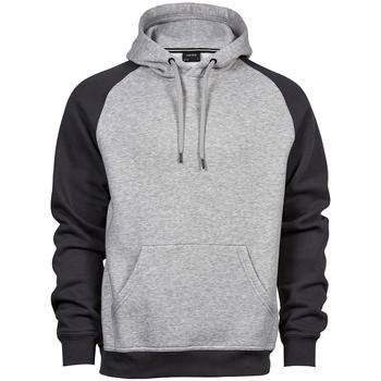 Textil Homem Sweats Tee Jays T5432 Heather Grey/Cinza Escura