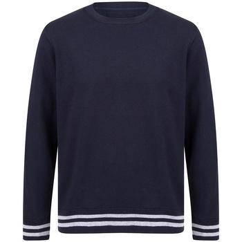 Textil Sweats Front Row FR840 Marinha/Cinzento de couro