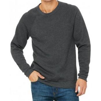 Textil Homem Sweats Bella + Canvas CV3901 Cinza Escura Heather
