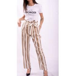 Textil Mulher Calças finas / Sarouels Fracomina FR20SP665 Incolor