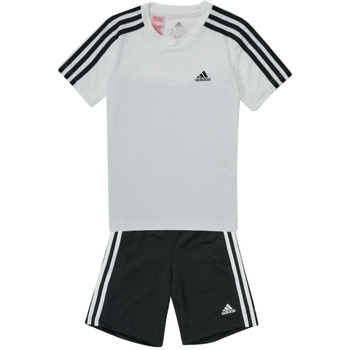 Textil Rapaz Todos os fatos de treino adidas Performance B 3S T SET Branco / Preto