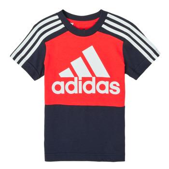 Textil Rapaz T-Shirt mangas curtas adidas Performance B CB T Vermelho / Marinho