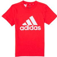 Textil Rapaz T-Shirt mangas curtas adidas Performance B BL T Vermelho