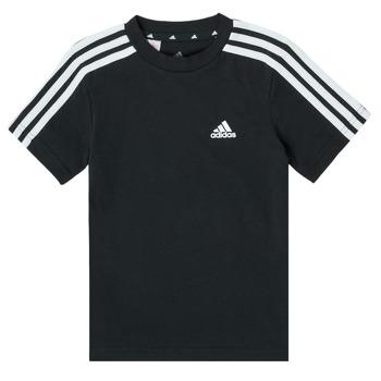 Textil Rapaz T-Shirt mangas curtas adidas Performance B 3S T Preto
