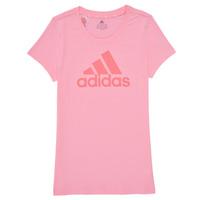 Textil Rapariga T-Shirt mangas curtas adidas Performance G BL T Rosa