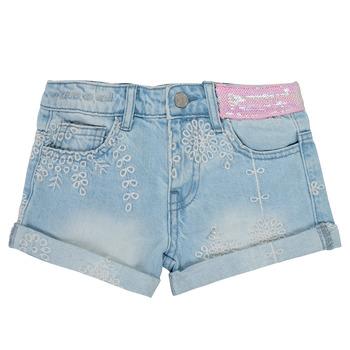 Textil Rapariga Shorts / Bermudas Desigual 21SGDD05-5010 Azul