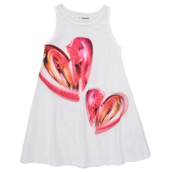 Textil Rapariga Vestidos curtos Desigual 21SGVK12-1000 Branco