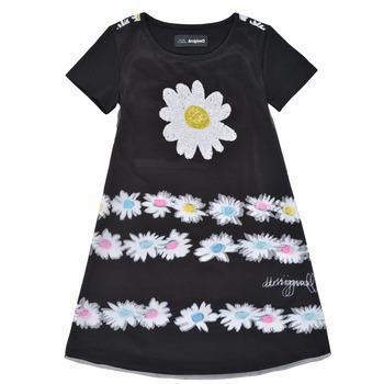 Textil Rapariga Vestidos curtos Desigual 21SGVK28-2000 Preto