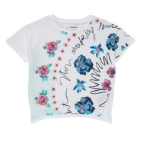 Textil Rapariga T-Shirt mangas curtas Desigual 21SGTK02-1000 Branco