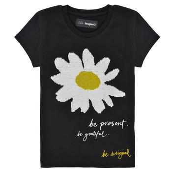 Textil Rapariga T-Shirt mangas curtas Desigual 21SGTK28-2000 Preto
