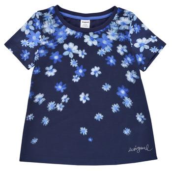 Textil Rapariga T-Shirt mangas curtas Desigual 21SGTK37-5000 Marinho