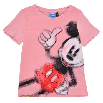 Textil Rapariga T-Shirt mangas curtas Desigual 21SGTK43-3013 Rosa