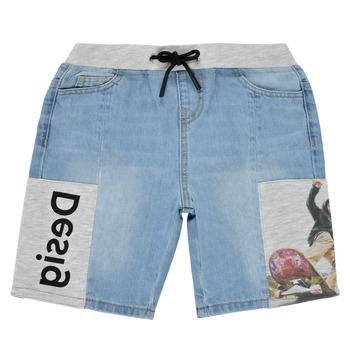 Textil Rapaz Shorts / Bermudas Desigual 21SBDD02-5053 Azul