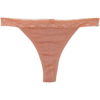 Roupa de interior Mulher Fios dental Underprotection BB1003 BEA STRING 3 PACK TAN Bege