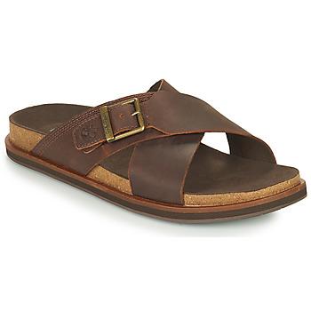 Sapatos Homem Chinelos Timberland AMALFI VIBES CROSS SLIDE Castanho