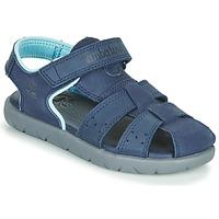 Sapatos Criança Sandálias Timberland NUBBLE LEATHER FISHERMAN Azul