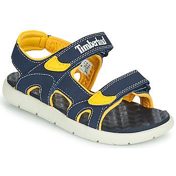 Sapatos Criança Sandálias Timberland PERKINS ROW 2-STRAP Azul / Amarelo