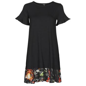 Textil Mulher Vestidos curtos Desigual KALI Preto