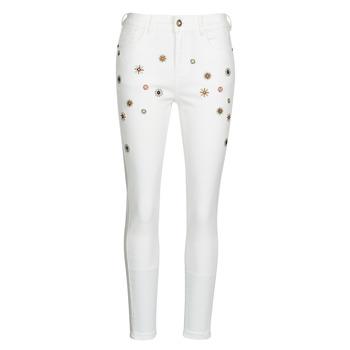 Textil Mulher Calças de ganga slim Desigual AUSTRIA Branco