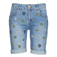 Textil Mulher Shorts / Bermudas Desigual GRECIA Azul