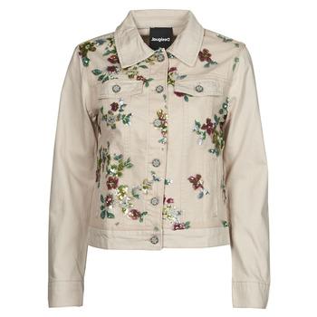 Textil Mulher casacos de ganga Desigual BRILLIGRIN Rosa