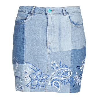 Textil Mulher Saias Desigual BE BLUE Azul