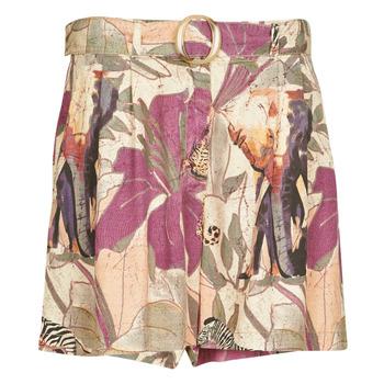 Textil Mulher Shorts / Bermudas Desigual ETNICAN Multicolor
