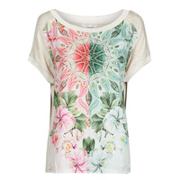 Textil Mulher T-Shirt mangas curtas Desigual COPENHAGUE Branco
