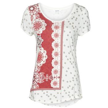 Textil Mulher T-Shirt mangas curtas Desigual ESTAMBUL Branco