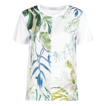 Textil Mulher T-Shirt mangas curtas Desigual BUDAPEST Branco