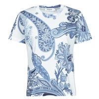 Textil Mulher T-Shirt mangas curtas Desigual POPASLEY Azul