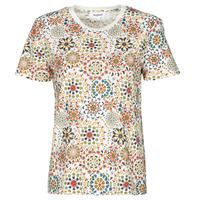 Textil Mulher T-Shirt mangas curtas Desigual LYON Branco