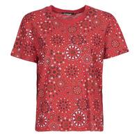 Textil Mulher T-Shirt mangas curtas Desigual LYON Vermelho