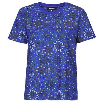 Textil Mulher T-Shirt mangas curtas Desigual LYON Marinho