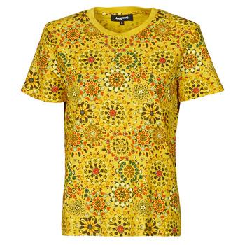 Textil Mulher T-Shirt mangas curtas Desigual LYON Amarelo
