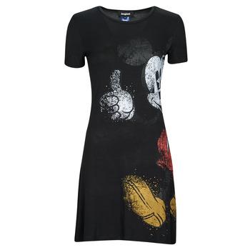 Textil Mulher Vestidos curtos Desigual MICKEY Preto