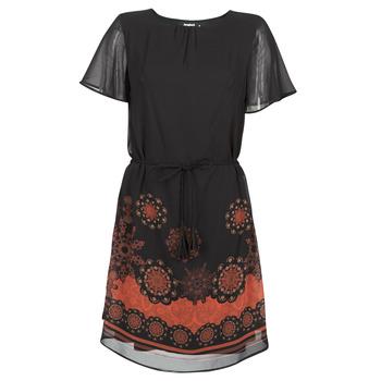 Textil Mulher Vestidos curtos Desigual TAMPA Preto