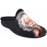 Sapatos Homem Chinelos Gema Garcia Vá para casa cavalheiro  7105-27 preto Noir