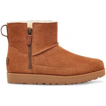 Sapatos Mulher Botins UGG W classic zip mini Castanho