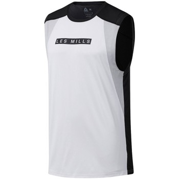 Textil Homem T-Shirt mangas curtas Reebok Sport Les Mills Smartvent Branco, Preto