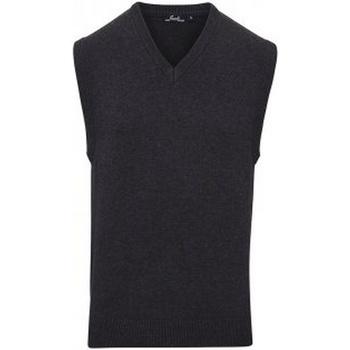Textil Homem Tops sem mangas Premier PR699 Carvão vegetal