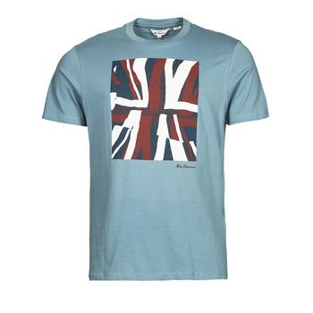 Textil Homem T-Shirt mangas curtas Ben Sherman HALF TONE FLEG TEE Azul