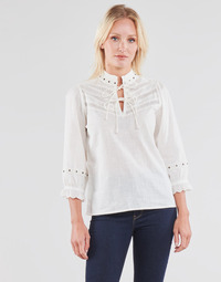 Textil Mulher Tops / Blusas Cream NITTY BLOUSE Bege